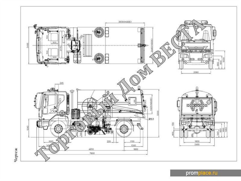 Подметально-уборочная вакуумная дорожная машина  – компании RETECH марки RTRS на шасси Daewoo Novus  Евро5, 2014 года выпуска.