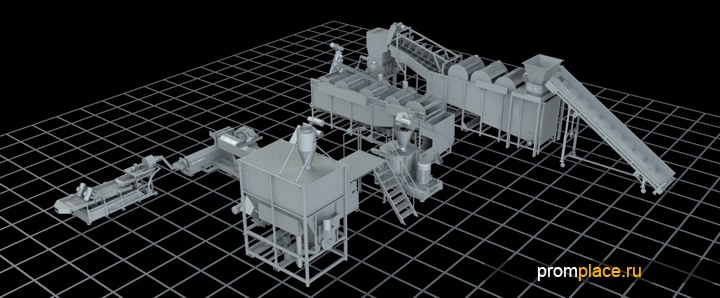 Комплекс для переработки вторичного пластика и пленки
