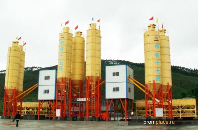 Бетонный завод HZS75