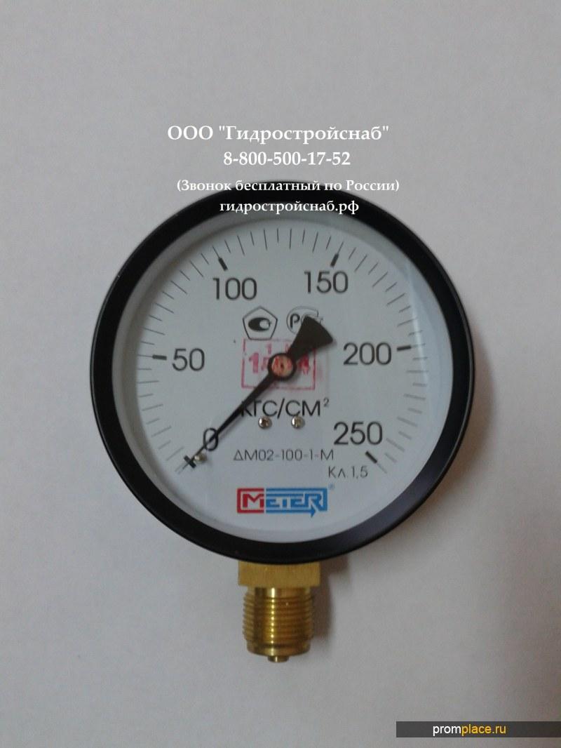 Манометр ДМ02-100-1М 0...100, 160, 250...1000кгс/см