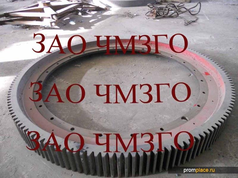 Венец зубчатый №4305.50.00СБ, m=22, z=200,вес 6800кг. для мельницы углеразмольной Ш-16 (ШБМ 287/550)