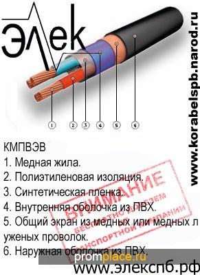 КМПВЭ, КМПВЭВ ( нг, нг-LS )– продажа судового кабеля