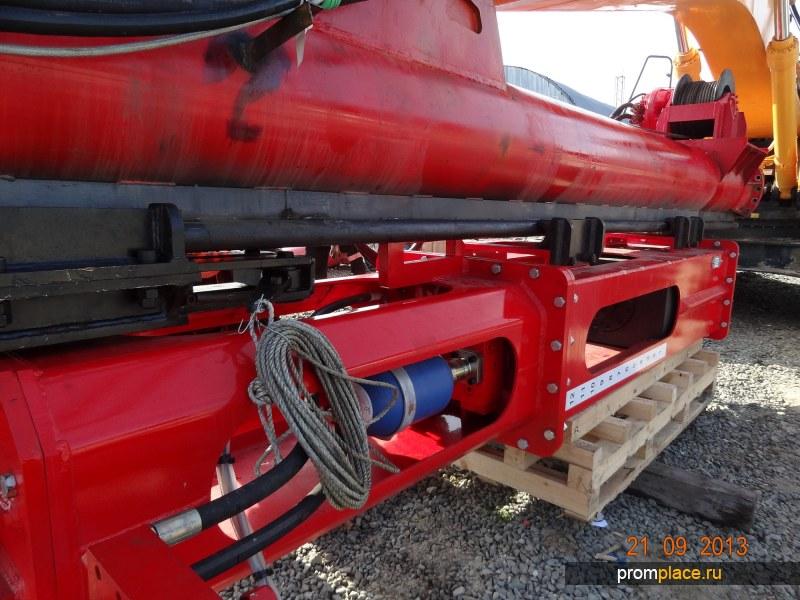 Молот гидравлический SGH-0312 с экскаваторной копровой мачтой МКЭ-12С