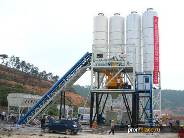 продажа бетонного завода   60М3 готового продукта в час