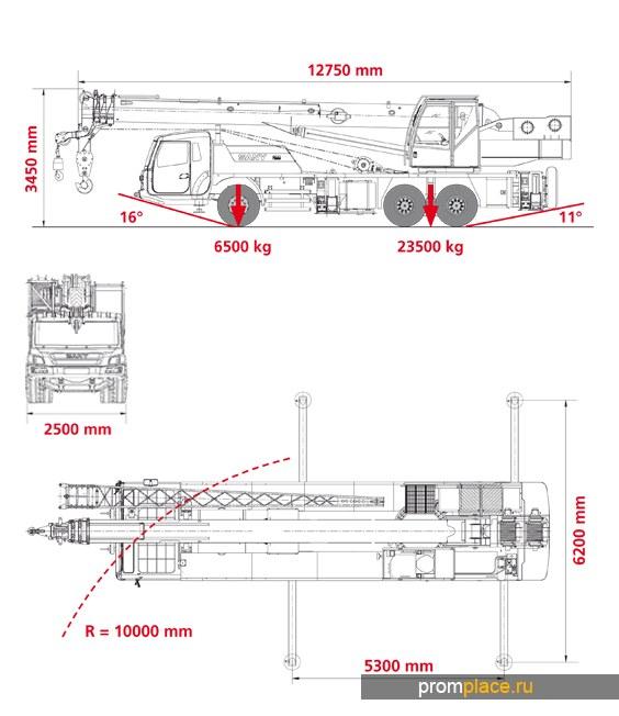 Автокран SANY QY25C Евро 4, с ОТТС