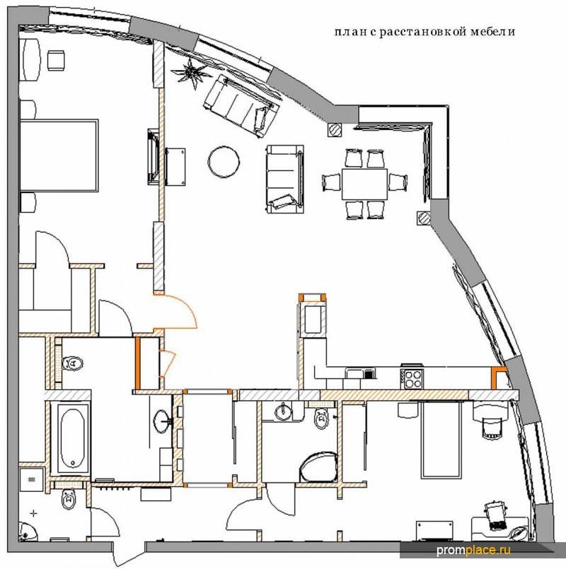 Комплексный ремонт квартир и офисов, дизайн-проект.