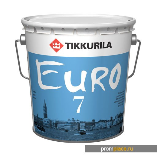 Краска ЕВРО 7  матовая латексная, выдерживает легкое мытье, Тиккурила