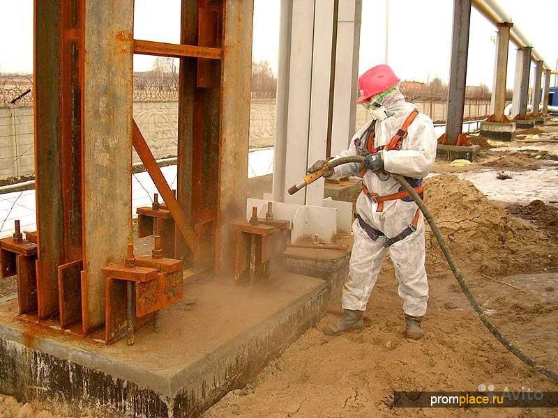 Промышленная пескоструйная обработка на выезде
