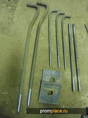 Болт фундаментный ГОСТ 24379.1-80 М48х2120 (вес 34,730) тип 1, исполнение 1.