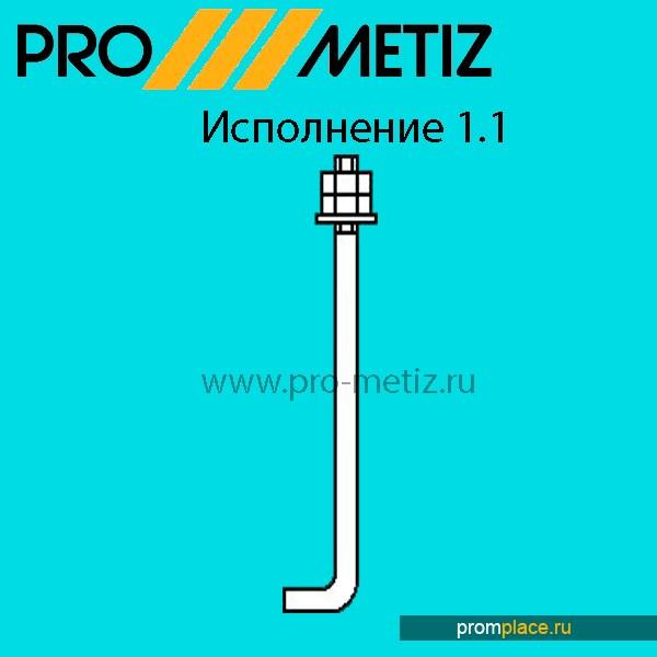 Болт Фундаментный 1.1 М16х800 ст3пс2 ГОСТ 24379.1-80.По наличию и под заказ