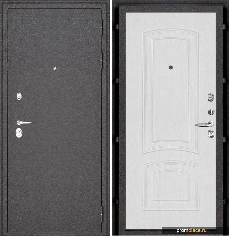 Дверь входная металлическая Колизей 3D панели Белый ясень