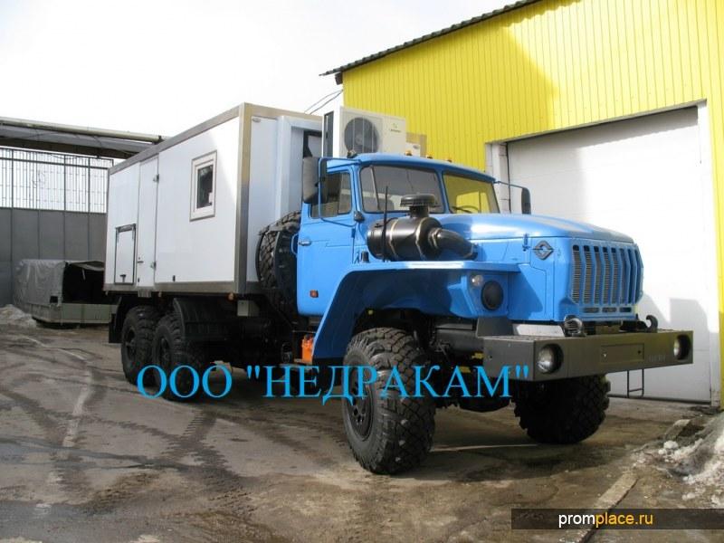 Каротажный подъемник (лаборатория гис) шасси Урал 43206