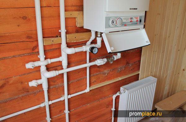 Подключение газового котла отопления