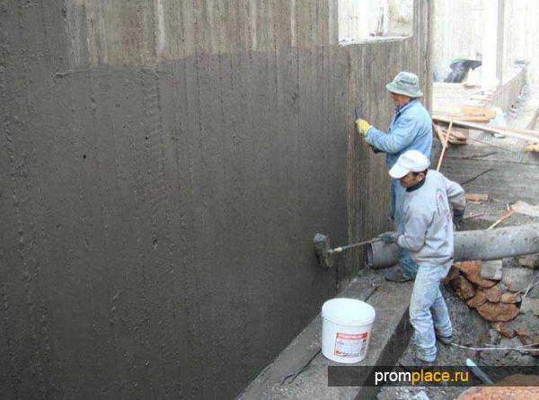 Цементно-полимерная обмазочная гидроизоляция