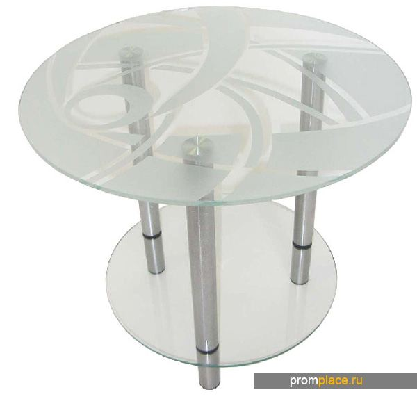 Стеклянный стол с матированием