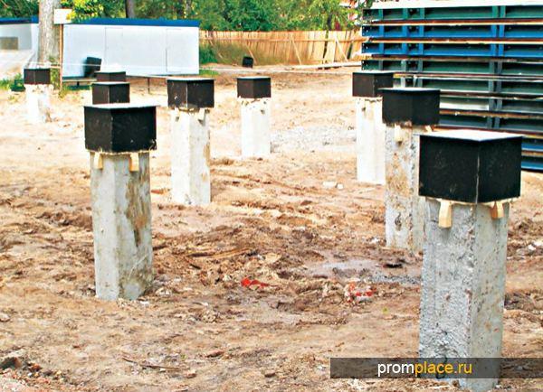 Столбчатое бетонное основание