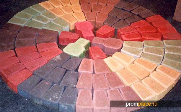 Сухие красители для окрашивания бетона