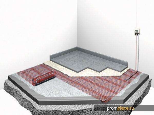 Технология облицовки плиткой теплого пола