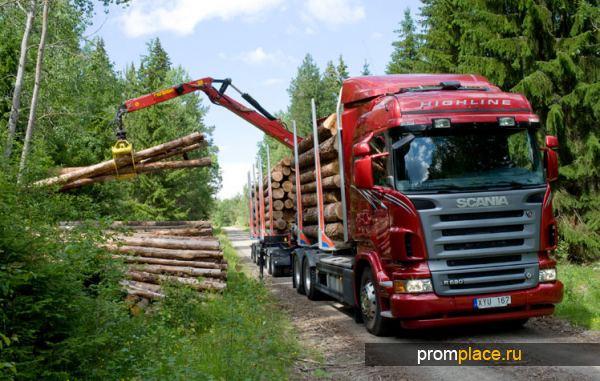 Машина для транспортировки леса