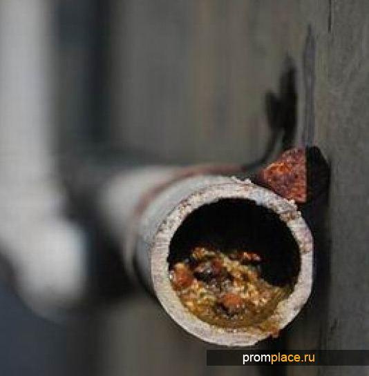 Засор трубы канализации