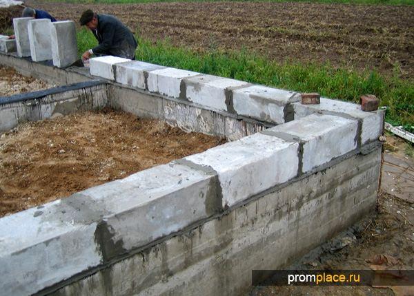 Ленточный фундамент для постройки из пеноблоков