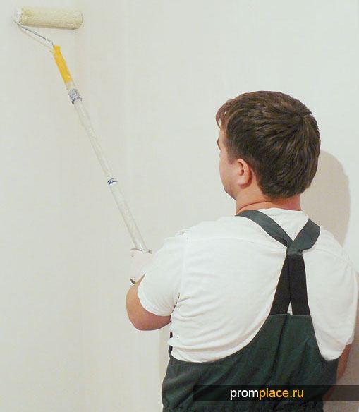 Оклейка стен стеклохолстом