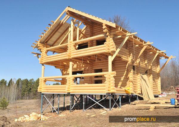 Дом на свайном фундаменте