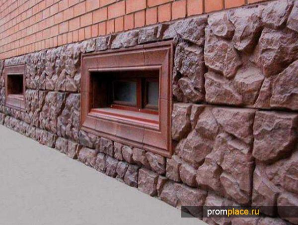 Отделка цоколя дома декоративным камнем