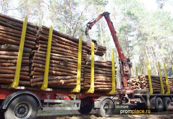 Прицеп для доставки леса