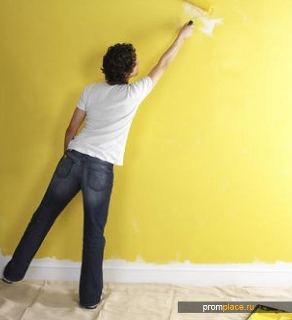 Покраска стен эмалью