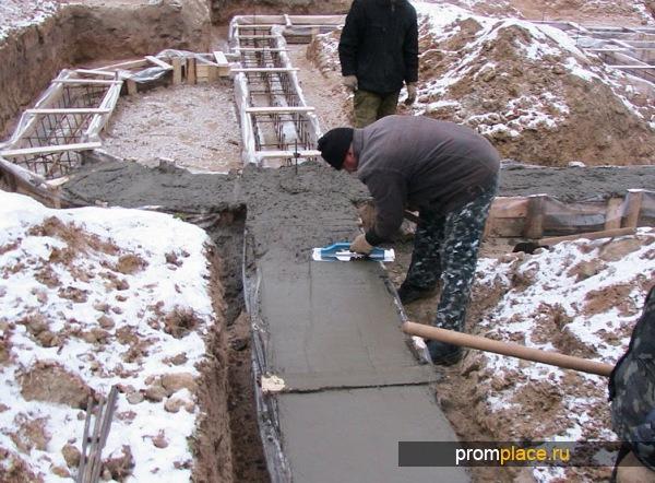 как в мороз халить бетон в сваи своей сути