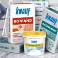 Обзор штукатурных смесей Knauf